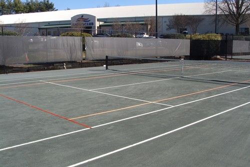 60' temporary clay lines on a 78' clay court